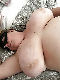 Horny mature woman playing alone