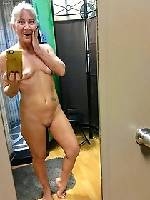 Lascivious older mademoiselle getting nude on camera